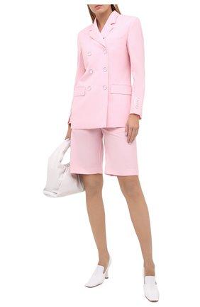 Женский шерстяной жакет BURBERRY розового цвета, арт. 8030402 | Фото 2