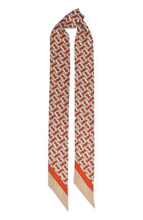 Мужские шелковый шарф BURBERRY красного цвета, арт. 8030561 | Фото 1