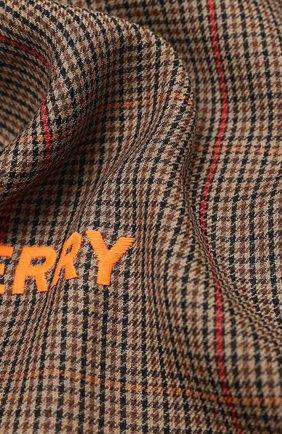 Мужские кашемировый шарф BURBERRY коричневого цвета, арт. 8030717 | Фото 2