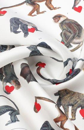 Женский шелковый платок BURBERRY разноцветного цвета, арт. 8030882 | Фото 2
