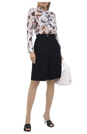 Женская шелковая блузка BURBERRY белого цвета, арт. 8030901 | Фото 2