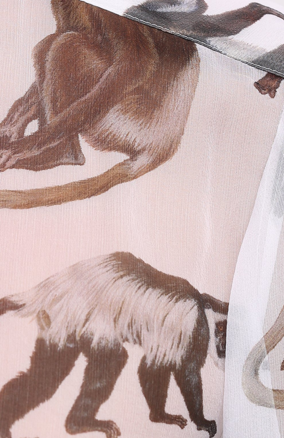 Женская шелковая блузка BURBERRY белого цвета, арт. 8030901 | Фото 5