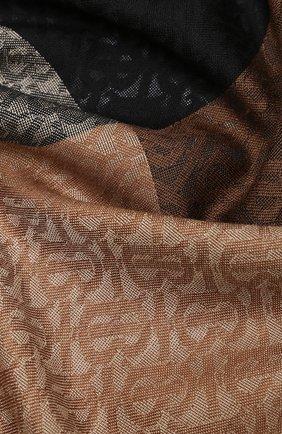 Женская шаль из шелка и шерсти BURBERRY коричневого цвета, арт. 8030934 | Фото 2