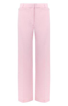 Женские шерстяные брюки BURBERRY розового цвета, арт. 8030988   Фото 1 (Длина (брюки, джинсы): Стандартные; Женское Кросс-КТ: Брюки-одежда; Материал подклада: Купро; Материал внешний: Шерсть; Силуэт Ж (брюки и джинсы): Прямые)
