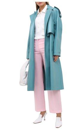 Женские шерстяные брюки BURBERRY розового цвета, арт. 8030988   Фото 2 (Длина (брюки, джинсы): Стандартные; Женское Кросс-КТ: Брюки-одежда; Материал подклада: Купро; Материал внешний: Шерсть; Силуэт Ж (брюки и джинсы): Прямые)