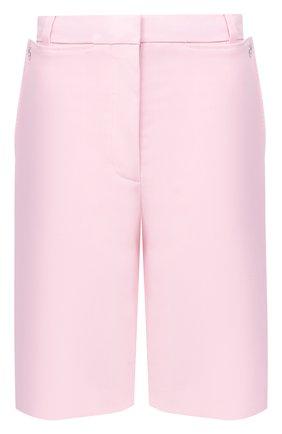 Женские шерстяные шорты BURBERRY розового цвета, арт. 8031048 | Фото 1