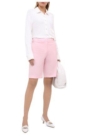 Женские шерстяные шорты BURBERRY розового цвета, арт. 8031048 | Фото 2