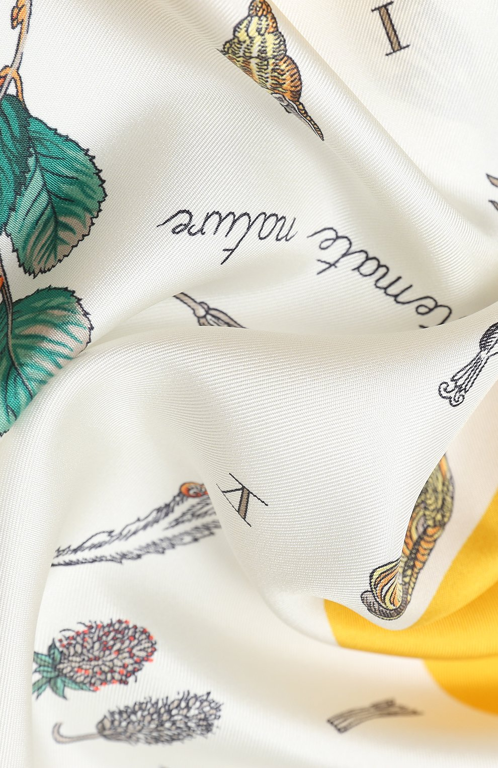 Женский шелковый платок BURBERRY желтого цвета, арт. 8031126 | Фото 2