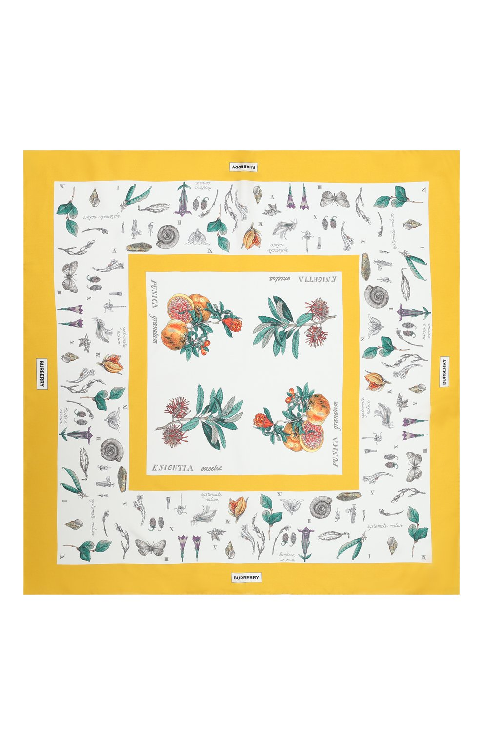 Женский шелковый платок BURBERRY желтого цвета, арт. 8031126 | Фото 3