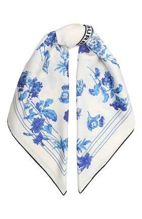 Женский шелковый платок BURBERRY голубого цвета, арт. 8031128 | Фото 1