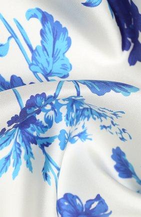 Женский шелковый платок BURBERRY голубого цвета, арт. 8031128 | Фото 2