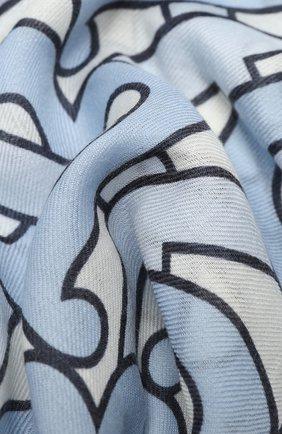 Женская кашемировая шаль BURBERRY голубого цвета, арт. 8031556 | Фото 2