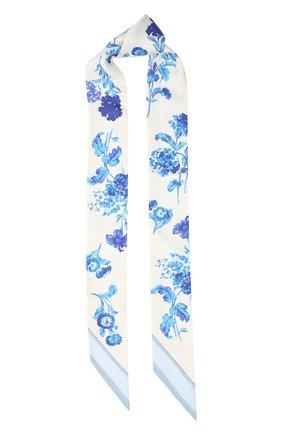 Мужские шелковый шарф BURBERRY голубого цвета, арт. 8032254 | Фото 1