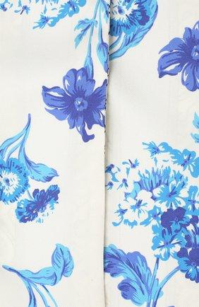 Мужские шелковый шарф BURBERRY голубого цвета, арт. 8032254 | Фото 2