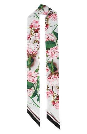 Мужские шелковый шарф BURBERRY розового цвета, арт. 8032258 | Фото 1