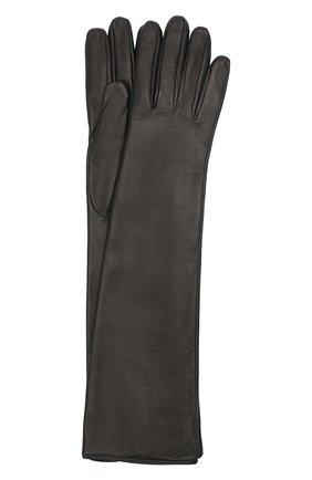 Женские кожаные перчатки BURBERRY черного цвета, арт. 8032265 | Фото 1