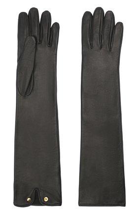Женские кожаные перчатки BURBERRY черного цвета, арт. 8032265 | Фото 2