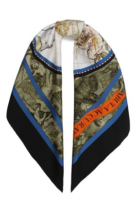 Женский шелковый платок BURBERRY зеленого цвета, арт. 8033932 | Фото 1