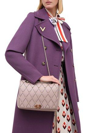 Женская сумка valentino garavani beehive VALENTINO бежевого цвета, арт. UW2B0H40/HTL | Фото 2