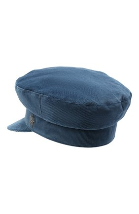 Женская хлопковая кепи LORENA ANTONIAZZI голубого цвета, арт. A2090CE002/3068 | Фото 2