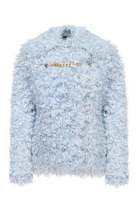 Женская шуба из овчины BURBERRY голубого цвета, арт. 8030101 | Фото 1