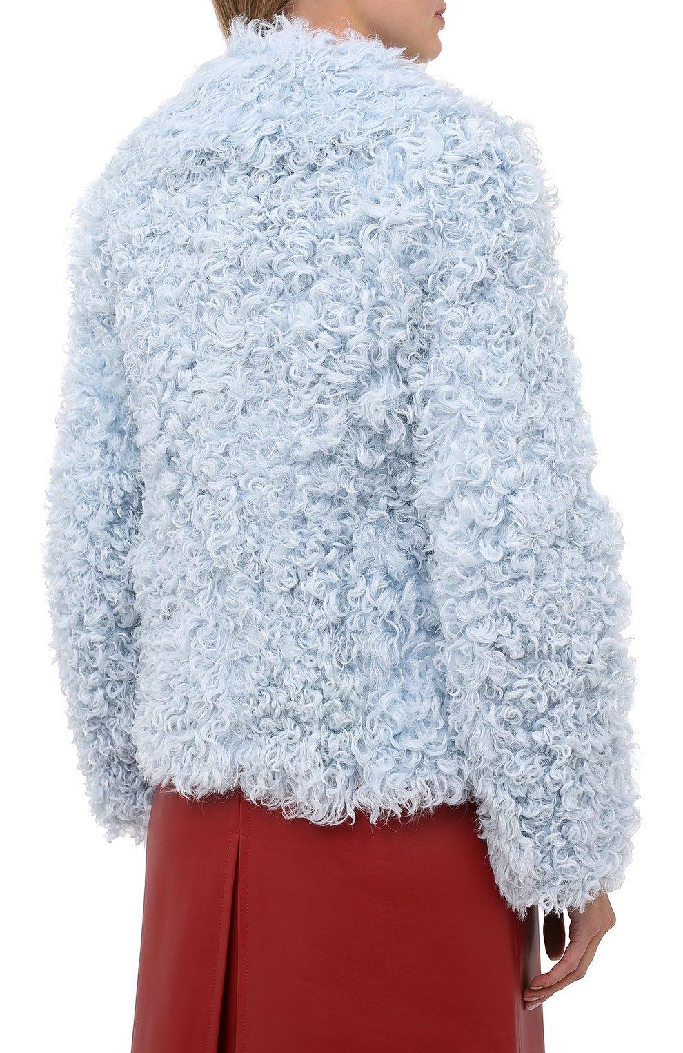 Женская шуба из овчины BURBERRY голубого цвета, арт. 8030101   Фото 4