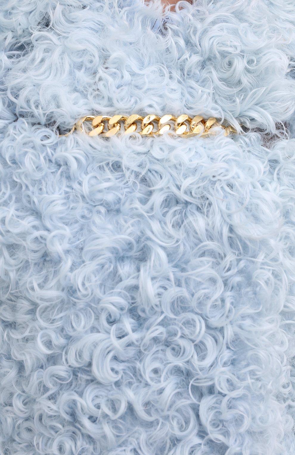 Женская шуба из овчины BURBERRY голубого цвета, арт. 8030101   Фото 5