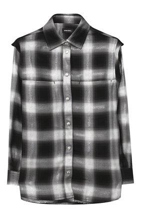 Детское рубашка DIESEL черного цвета, арт. 00J50V-KXB24 | Фото 1