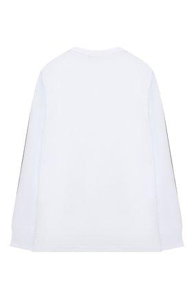 Детская хлопковый лонгслив DSQUARED2 белого цвета, арт. DQ048H-D00A8   Фото 2
