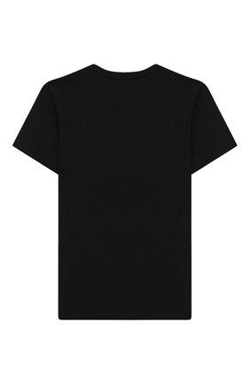 Детская хлопковая футболка DSQUARED2 черного цвета, арт. DQ048Z-D00XK   Фото 2