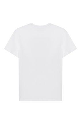 Детская хлопковая футболка N21 белого цвета, арт. N214E6/N0080/N21T58F | Фото 2
