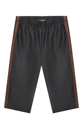 Детские шерстяные брюки GUCCI серого цвета, арт. 629510/ZWALN | Фото 1