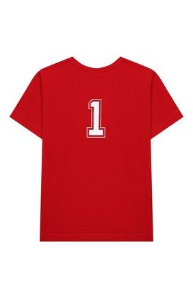 Детская хлопковая футболка MAKODAY красного цвета, арт. MA20T020/CoLy05 | Фото 2