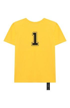 Детская хлопковая футболка MAKODAY желтого цвета, арт. MA20T007/CoLy05 | Фото 2