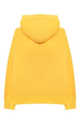 Детский хлопковое худи MAKODAY желтого цвета, арт. MA20H007/CoLy04 | Фото 2