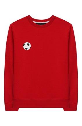Детская хлопковый свитшот MAKODAY красного цвета, арт. MA20L020/CoLy03 | Фото 1