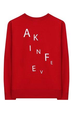 Детская хлопковый свитшот MAKODAY красного цвета, арт. MA20L020/CoLy03 | Фото 2