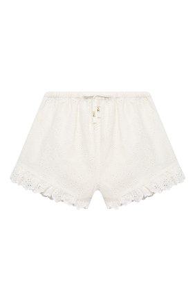 Детские хлопковые шорты ZIMMERMANN белого цвета, арт. 5545ABTD | Фото 1