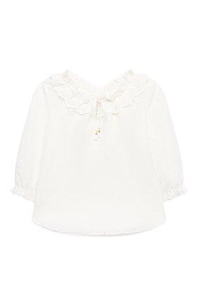 Детский хлопковая блузка ZIMMERMANN белого цвета, арт. 8547TBTD | Фото 1