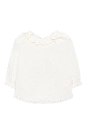 Детский хлопковая блузка ZIMMERMANN белого цвета, арт. 8547TBTD | Фото 2