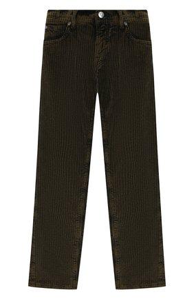 Детские хлопковые брюки JACOB COHEN хаки цвета, арт. D1011 T-20003 | Фото 1