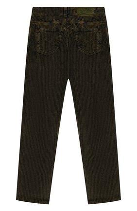 Детские хлопковые брюки JACOB COHEN хаки цвета, арт. D1011 T-20003 | Фото 2