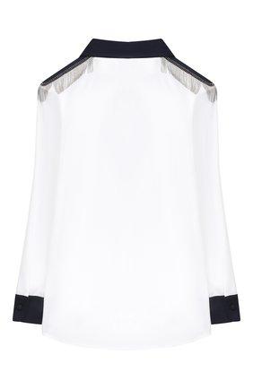 Детское хлопковая блузка ALETTA белого цвета, арт. AC000499ML/4A-8A | Фото 2