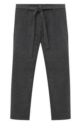 Детского брюки ALETTA серого цвета, арт. AF000541R/4A-8A | Фото 1