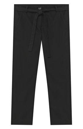 Детского брюки ALETTA черного цвета, арт. AF000541R/4A-8A | Фото 1