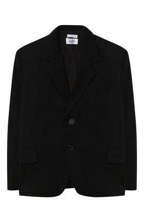 Детский пиджак ALETTA черного цвета, арт. AMC000637N/4A-8A | Фото 1
