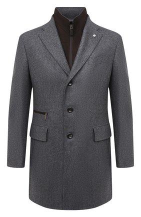 Мужской шерстяное пальто L.B.M. 1911 серого цвета, арт. 7355/00502 | Фото 1