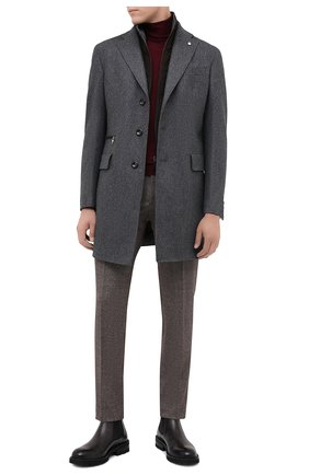 Мужской шерстяное пальто L.B.M. 1911 серого цвета, арт. 7355/00502 | Фото 2