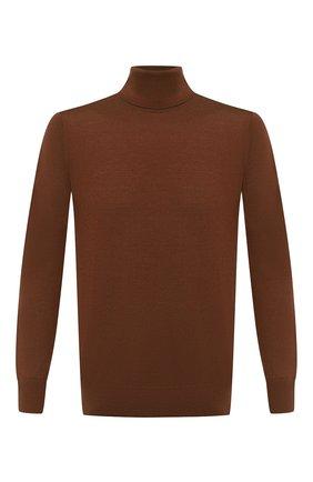 Мужской шерстяная водолазка LORO PIANA светло-коричневого цвета, арт. FAL3612 | Фото 1