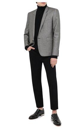 Мужские кожаные оксфорды ALEXANDER MCQUEEN черного цвета, арт. 627211/WHYI2 | Фото 2